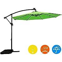 Ai-Lin 10-Foot LED Lighted Offset Hanging Umbrella