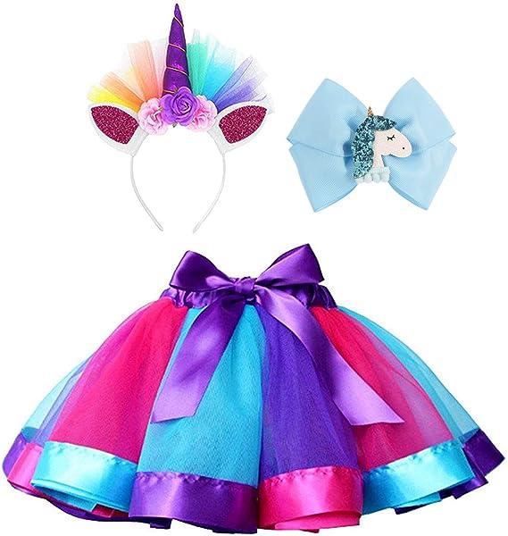 Amazon.com: Disfraz de unicornio para niñas de tutú arco ...