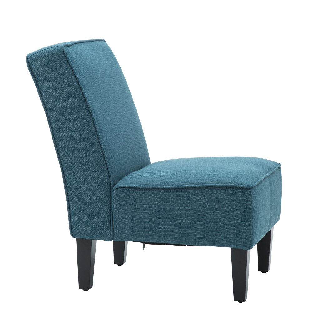 Changjie Cushioned linen Armless Settee Loveseat Sofa Couch Home Casual Living Room Sleeper (One Seat Blue) by Changjie (Image #2)
