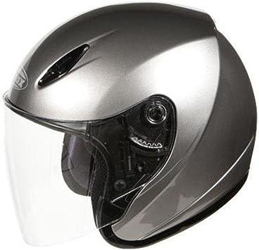 Gmax Gm17 Spc Open Face Helmet Titanium Xxl//Xx-Large