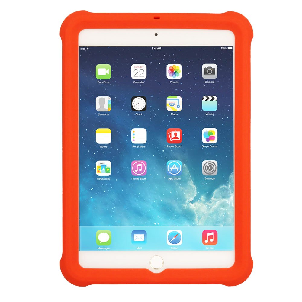 Rugged Shock Proof Soft Silicone Protective Easy Grip Edge Protection Case Screen Protector BLACK - Kids /& School Friendly Case TECHGEAR Bumper Case fits Apple iPad Mini 3 2 1