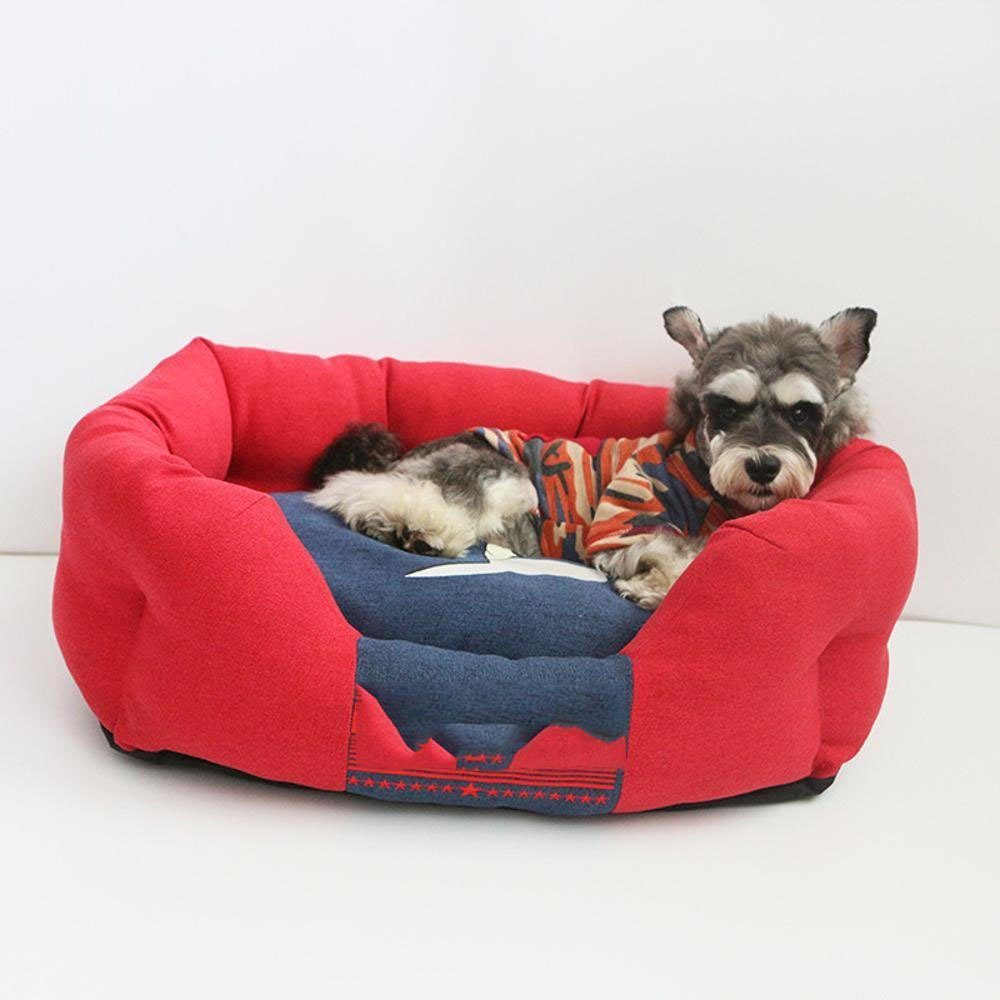 A 55x35x23cmGwanna Pet Bolster Dog Bed Comfort Removable dog kennel Pet litter Bed mat Soft Pad for Pets Sleeping (color   A, Size   55x35x23cm)