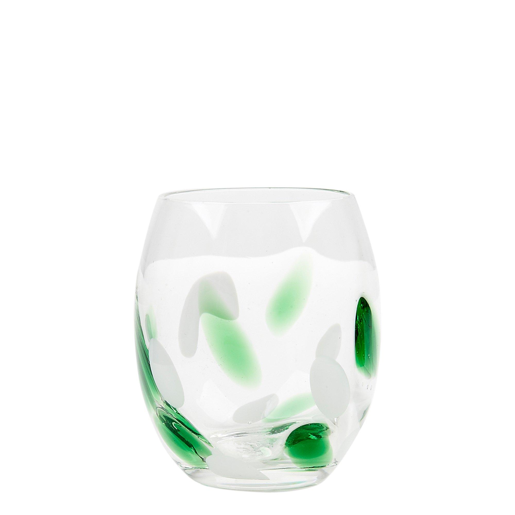 Impulse Cloud Rocks Glass, Green, Case of 24