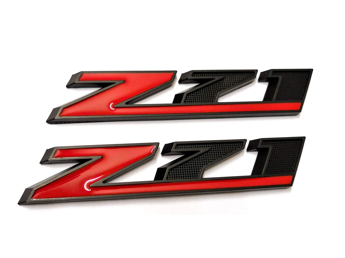 2pcs Black Z71 Emblem Badges 3D Replacement for GM Chevy Silverado 1500 2500HD Sierra Tahoe Suburban Decals Black