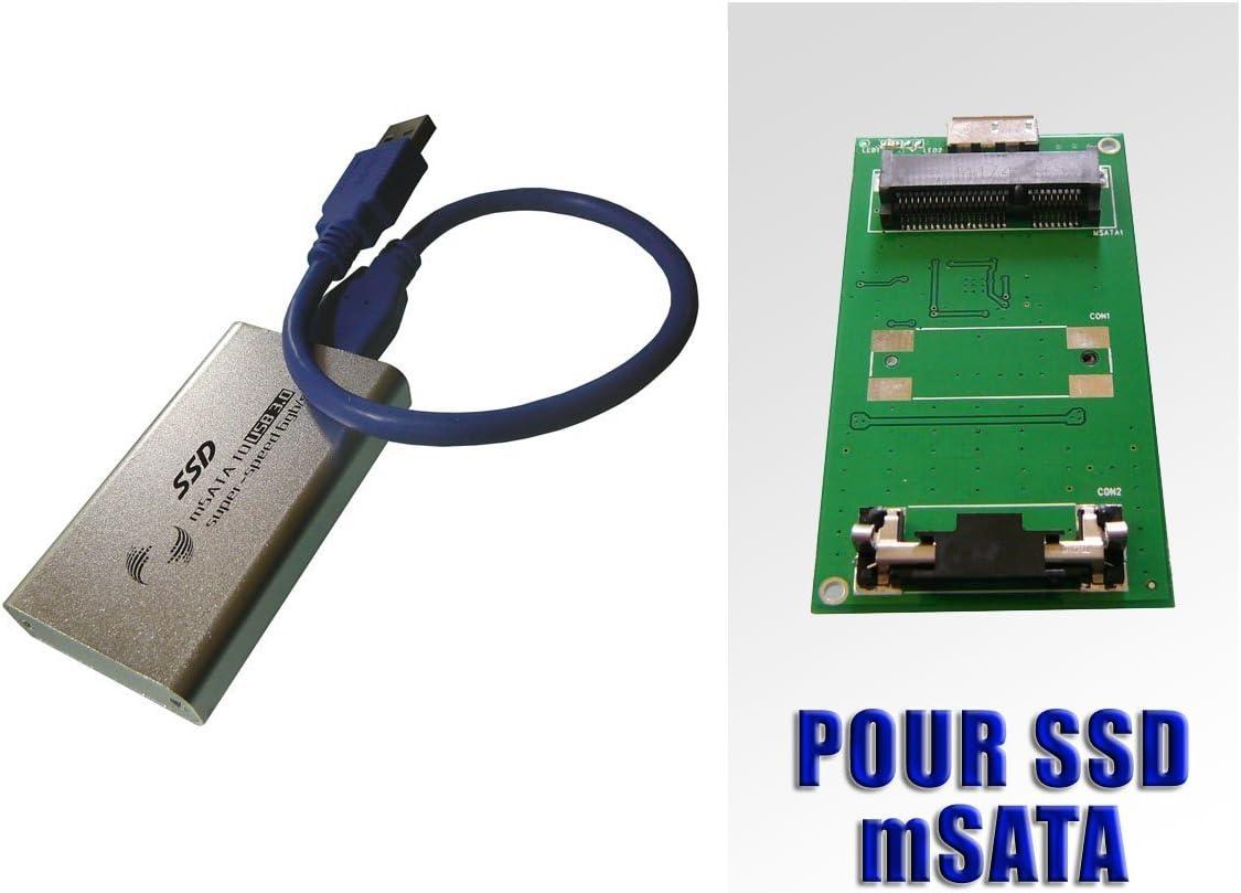 Kalea Informatique - Adaptador de mSATA a USB 3.0 (para SSD mini ...