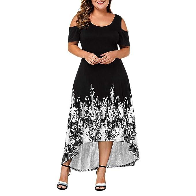 Tomppy Maxi Dresses for Women Plus Size Cold Shoulder Short ...