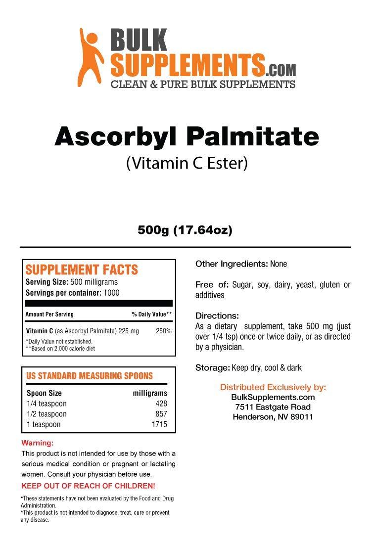 BulkSupplements Ascorbyl Palmitate (Vitamin C Ester) Powder (500 grams)