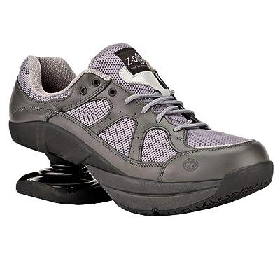 Z-CoiL Pain Relief Footwear Men's Liberty Slip Resistant Gray Leather Tennis Shoe | Tennis & Racquet Sports
