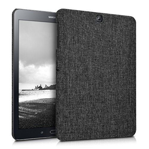 Tab Tweed (kwmobile Hardcase Fabric Cover for Samsung Galaxy Tab S2 9.7 - Cover Case in Fabric Dark Grey)