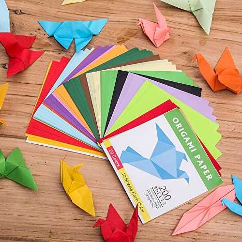 Amazon.com: Papel para Origami, color en ambos lados, 200 ...