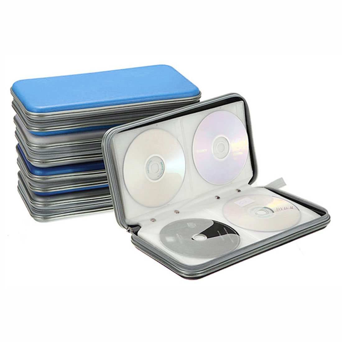 Black-40p Portable Plastic Disc CD//DVD Wallets Storage Organizer Bags