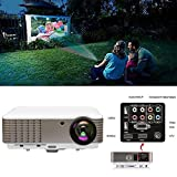 EUG Full HD LCD LED Digital Video Projector 3900 Lumen 1080P HDMI Movies Games Home Theater Projectors Red&blue 3D USB VGA RCA Audio AV for Cell Phone PC Blu-ray Xbox PS3 Mac TV Outdoor Entertainment