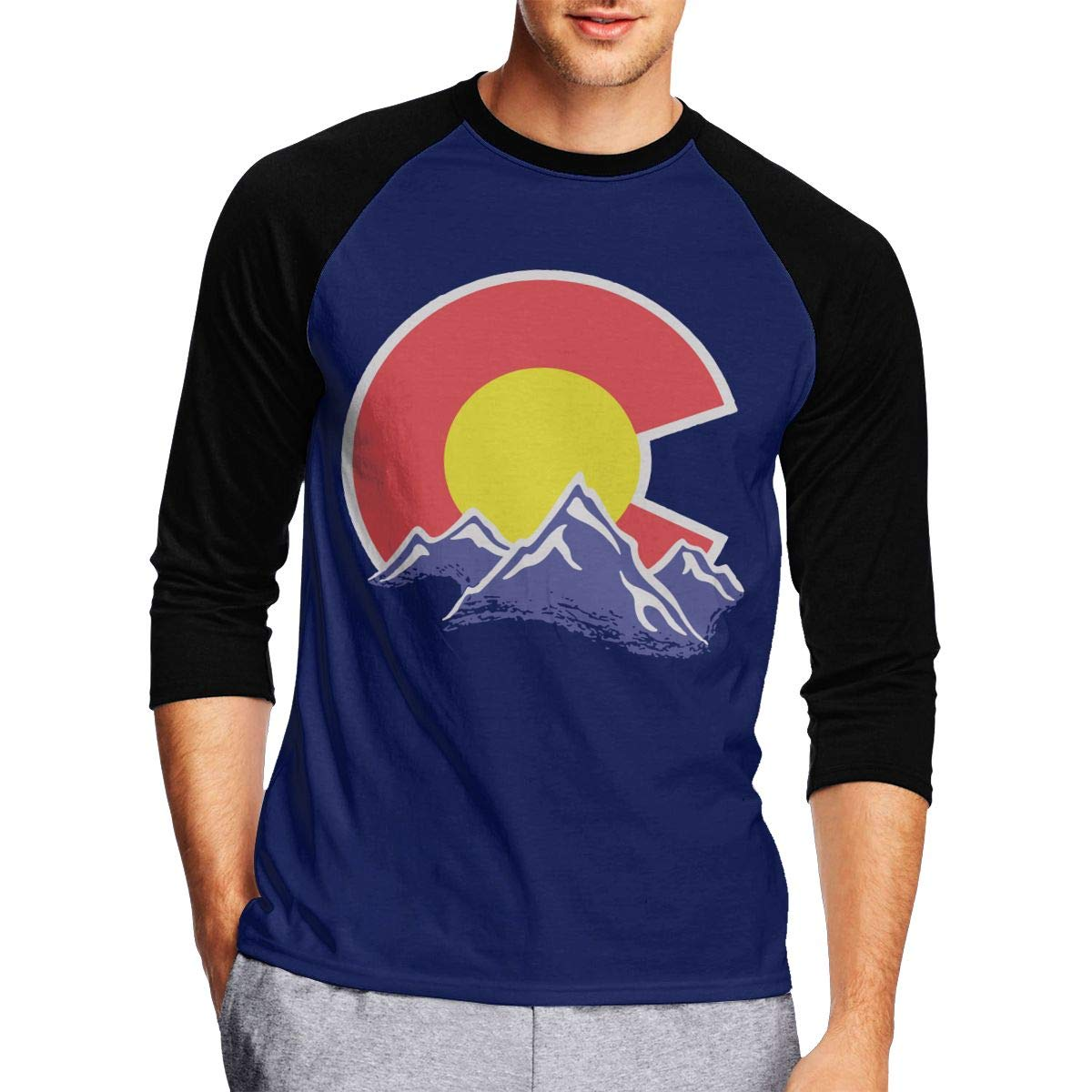 DFGHJZH-L Colorado Mountain Mens Casual Adult Long Sleeve T Shirts