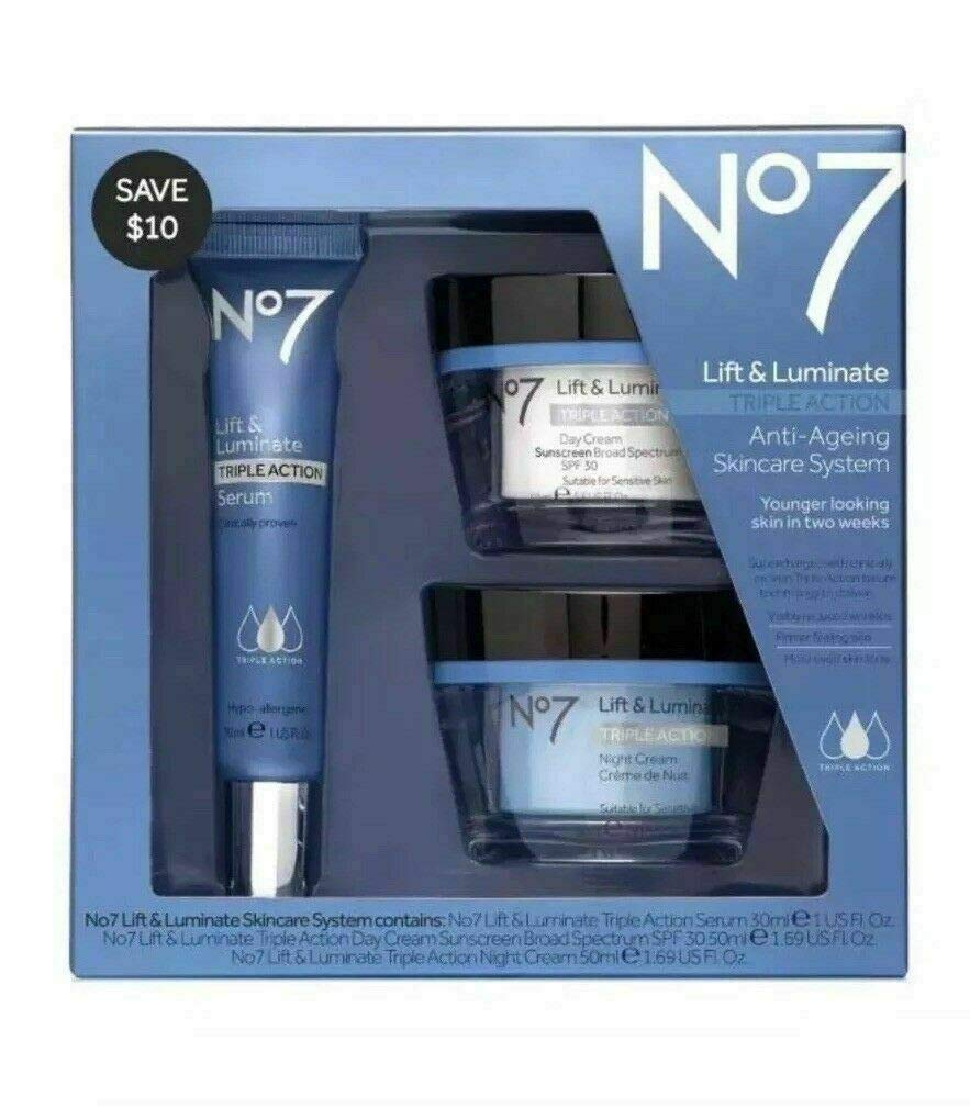 No7 Lift & Luminate Triple Action Skincare System by NO 7