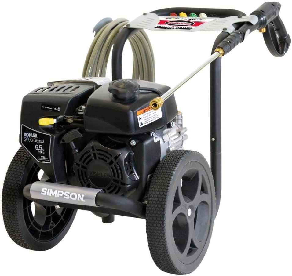 SIMPSON Cleaning MS60763-S MegaShot Gas Pressure Washer Powered by Kohler RH265, 3100 PSI at 2.4 GPM : Garden & Outdoor