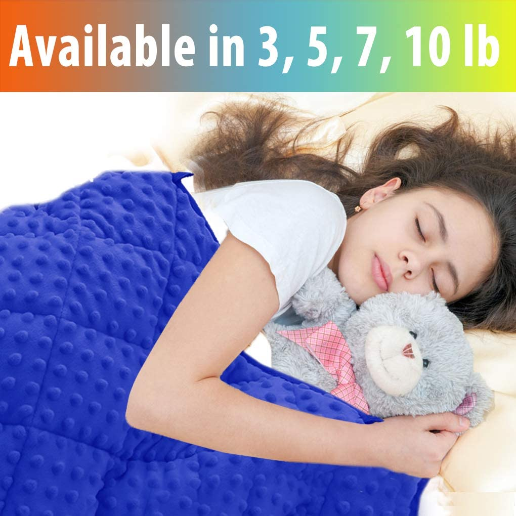 MAXTID Weighted Blanket for Toddler 3 lb 36x48 Cotton /& Minky Premium Kids Heavy Blanket with Glass Beads