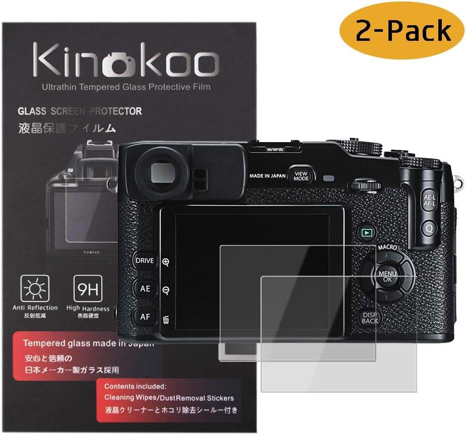kinokoo Tempered Glass Film for Fuji GFX 50S//GFX 50R//GFX 100 Crystal Clear Film FUJIFILM GFX 50S//GFX 50R GFX100 Screen Protector Bubble-Free//Anti-Scratch 2 Pack