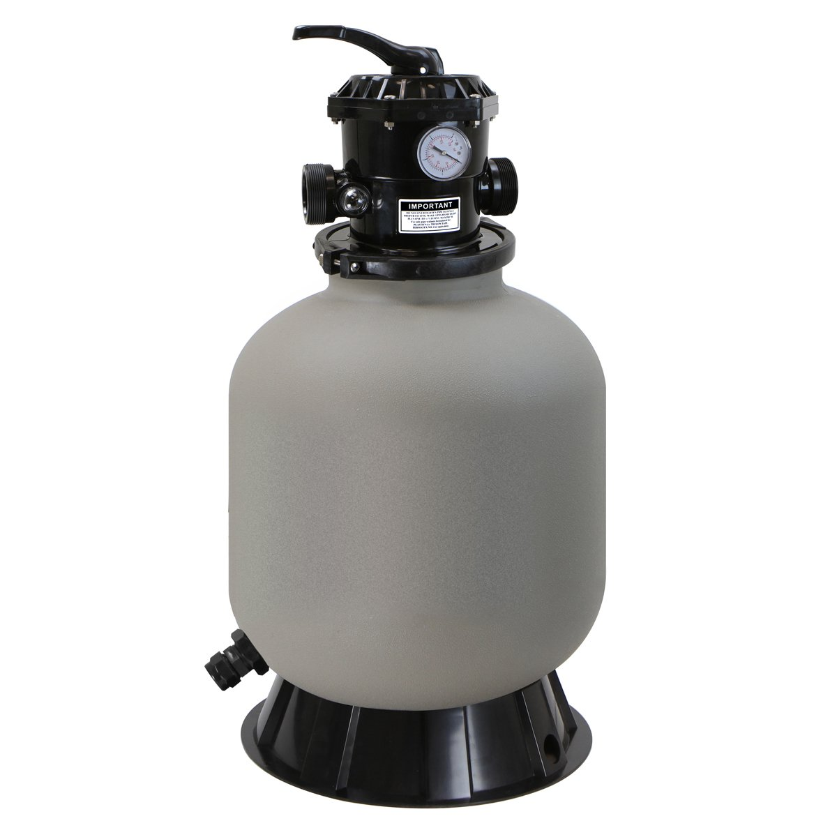 XtremepowerUS 16'' Above Inground Swimming Pool Sand Filter System 7-Way Multi-Port Valve Pool Filter up to 21,000 Gallons with Stand by XtremepowerUS