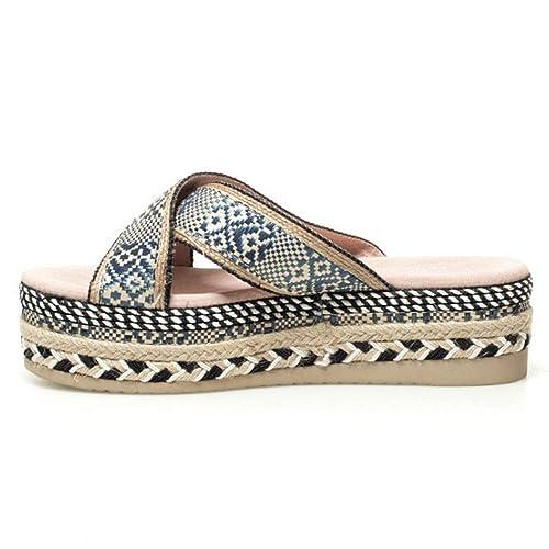 ce2049954 Yokono Women s Thong Sandals Blue Navy  Amazon.co.uk  Shoes   Bags
