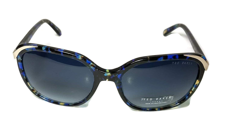 Amazon.com: ted baker azul oro medio marco anteojos de sol ...