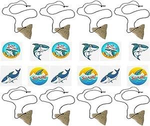 U.S. Toy, JA256 Shark Tooth Necklaces and Shark Tattoos