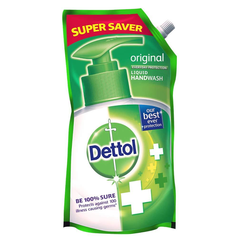Dettol Germ Protection Ph.Balanced Liquid Handwash Refill, Original, 750 ml product image