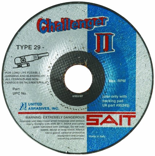 United Abrasives-SAIT 27513 CH II 7 by 1/8 by 7/8 100X Flexible Type 29 Grinding/Blending Wheel, 25-Pack