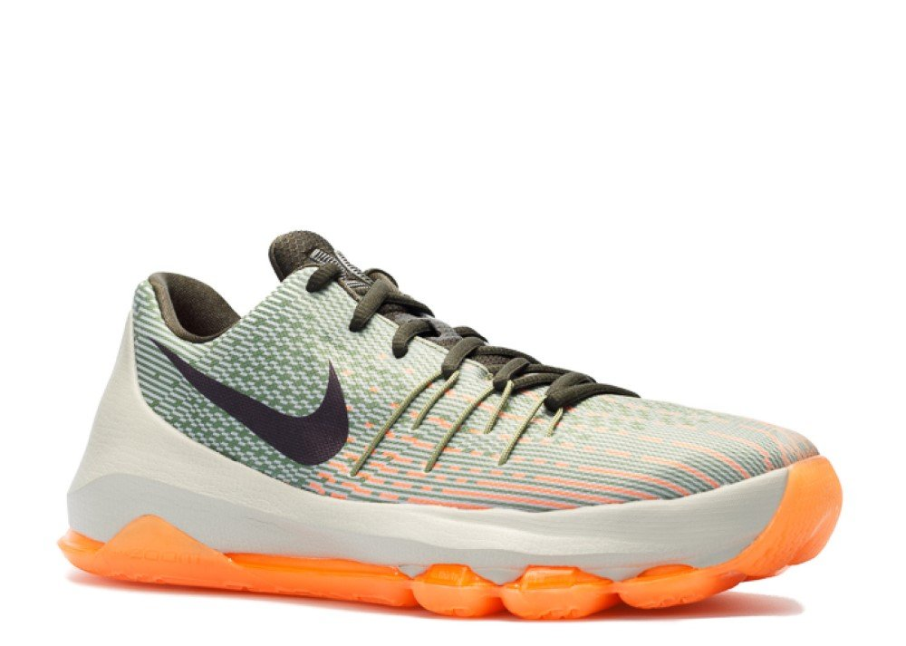 Nike KD 8 (GS) basketball trainers 768867 sneakers shoes kevin durant (6 Big Kid M, lunar grey bright citrus 033)