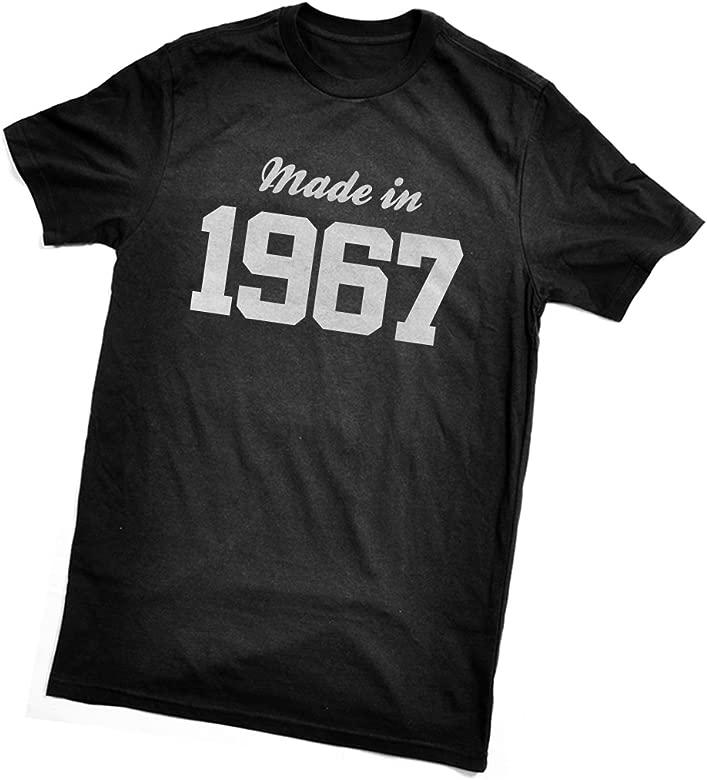 Fabricado en T-Camiseta de Manga Corta 1967 - Fun el Regalo de cumpleaños - de Envolver para Navidad y para Regalar Detalles sobre Servicio Disponible ...