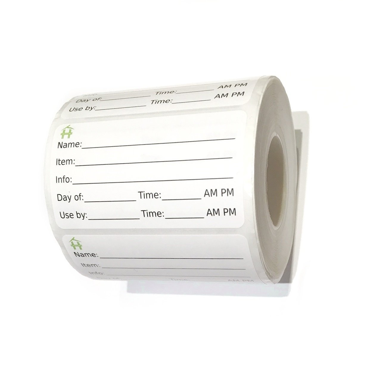 500 Food Labels - Removable Stickers with Large Writable Surface - Peel Clean With No Glue Residue - Great for Meal Preparation, Leftovers Labeling, on Bottles, Pans, Plastic and Other Containers