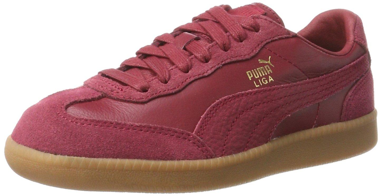 Puma Liga Leather, Zapatillas Unisex Adulto 42.5 EU|Rojo (Tibetan Red-tibetan Red)