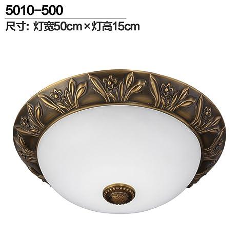 Lámpara de cobre completo marmol LED Lamparas de techo ...