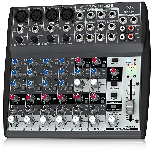 Behringer Xenyx 1202 Premium 12-Input 2-Bus Mixer with XENYX Mic Preamps and British Eqs ()