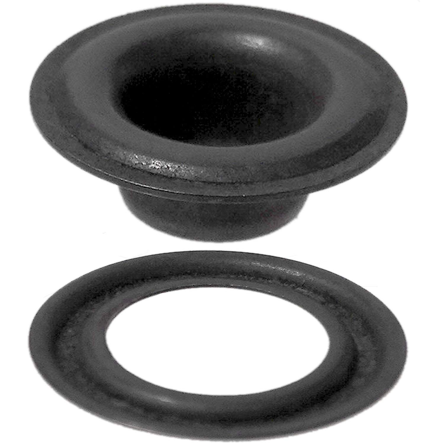 Stimpson Self-Piercing Grommet and Washer Dull Black Chem Reliable, Durable, Heavy-Duty #2 Set (500 pieces of each)