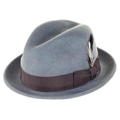 4674d6ece Bailey Hats Tino Crushable Felt Trilby Hat - Bluestone: Amazon.co.uk ...