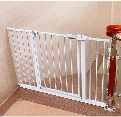 KSWD Metálica Barrera de Seguridad para niños, 66-74cm, 75-84cm Niños Mascotas Bebé Puerta de la Escalera para Puertas Escaleras, Sin taladrar Extensible Blanco,L: Amazon.es: Hogar