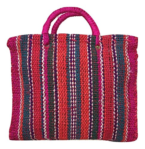 Colorful Stripes Pattern Canvas Handmade Tote Bag Boho Chic