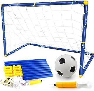 Porte Calcio Sport Calcio Obiettivi Rete da Calcio Soccer Goal Toy Set Staccabile Facile Installazione con Pallone da Calcio e Pompa per Ragazzi e Ragazze Spiaggia All'aperto Giocattolo
