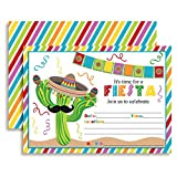 Fiesta Cactus Celebration Fill In Invitations set of 10