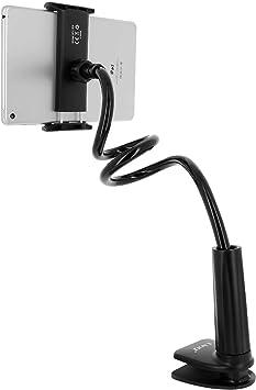 Linq - Soporte de Mesa para Smartphone o Tablet, Abrazadera para el Borde de los Muebles, Giratorio a 360°, Brazo Ajustable, Color Negro: Amazon.es: Electrónica
