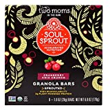 Two Moms in the Raw, Soul Sprout, Granola Bars, Cranberry Chia Crunch, 6 Bars, 1 oz (28 g) Each( 4 PACK )+ ( 2 PACK ) Made in Nature, Organic Apple Rings, 3 oz (85 g)