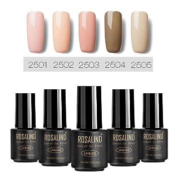 Rosalind Serie De Colores Desnudos Esmalte Semipermanente Uñas De Gel Manicura Francesa Gel Uñas 7ml
