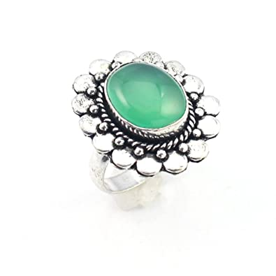 Jewellery & Watches Helpful Blue Aqua Chalcedony Fashion Jewelry Silver Plated Ring S28192