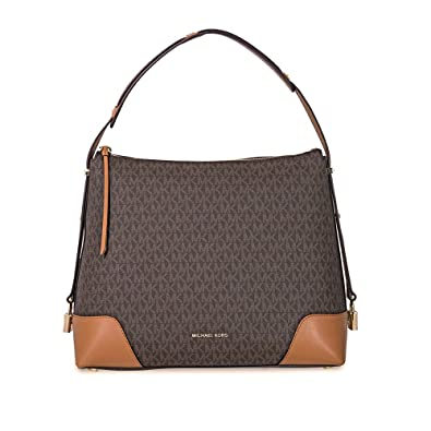 26e37cc461296 Michael Kors Crosby Large Logo Shoulder Bag BRN ACORN  Handbags ...