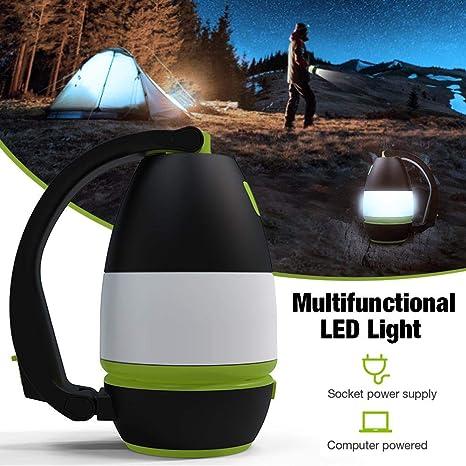 Portable USB Reading Light Flashlights Table Lamp Torch LED Camping Tent Lantern