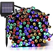 Solar Christmas Lights,72FT 200 LED 8 Mode Solar String Lights Waterproof Starry Fairy Light for Indoor/Outdoor Commercial Decor Ambiance Garden Backyard Wedding Holiday Party(Multi-Color)