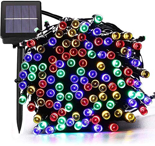 Solar Christmas Lights,72FT 200 LED 8 Mode Solar String Lights Waterproof Starry Fairy Light for Indoor/Outdoor Commercial Decor Ambiance Garden Backyard Wedding Holiday Party(Multi-Color)  (Solar Lights Christmas)