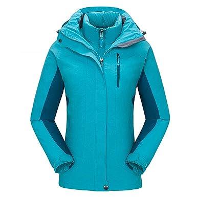 CIKRILAN Femme 3 en 1 Coupe Vent Imperméable Outdoor Sport Veste de Camping  Ski Manteau avec e0e4c01ff2d9