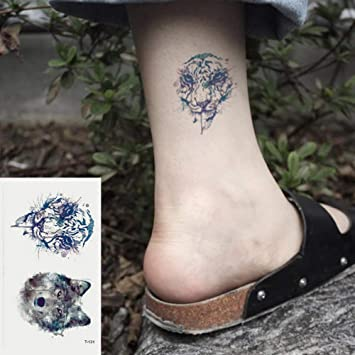 Oottati 2 Hojas Pequeño Lindo Tatuaje Temporal Tattoo Tigre De ...