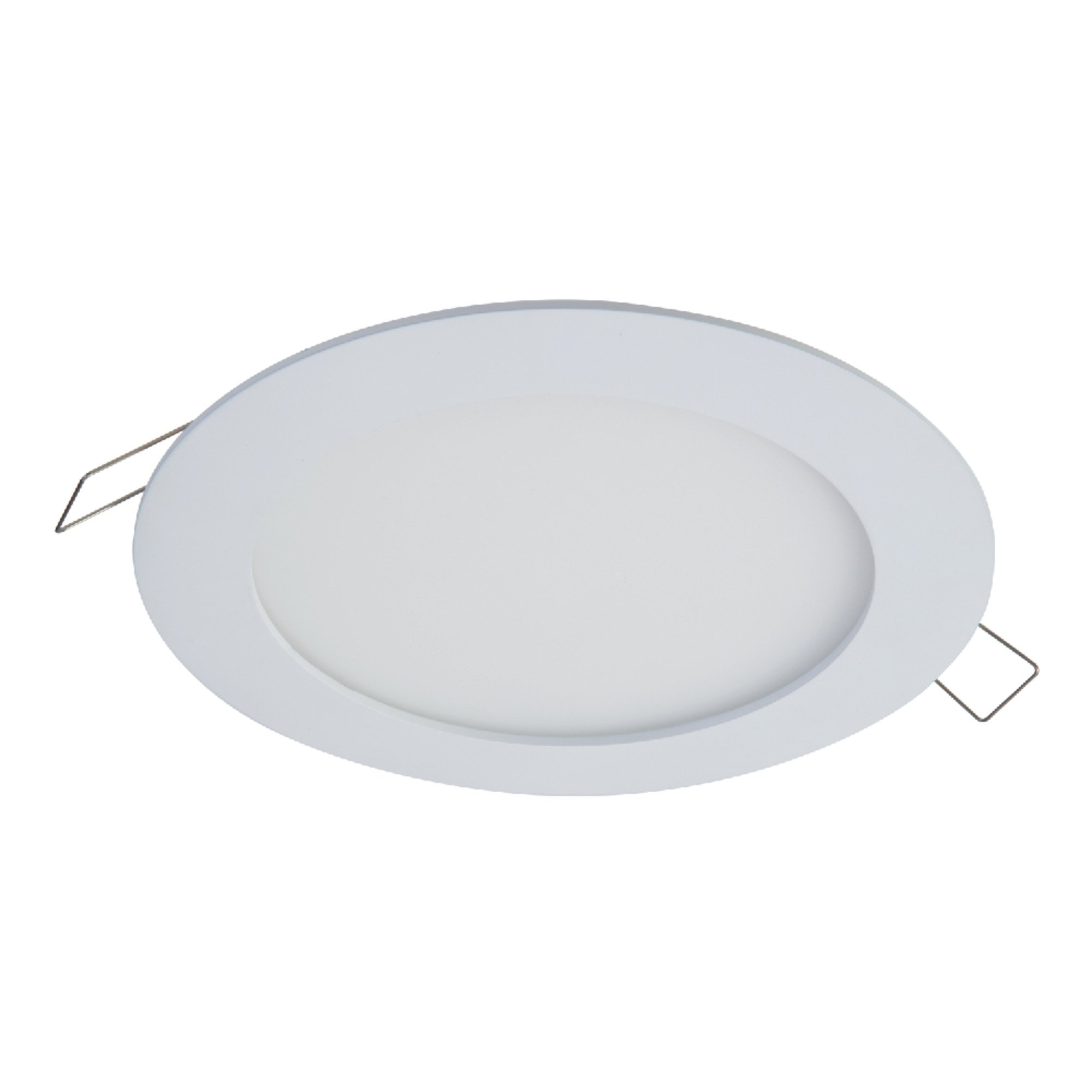 Halo SMD6R6930WHDM SMD-DM Lens Round Integrated LED Surface Mount Recessed Downlight Trim, 3000K (No Can Needed), 6.2'', White